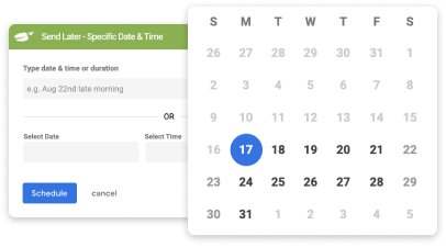 Gmail's scheduling