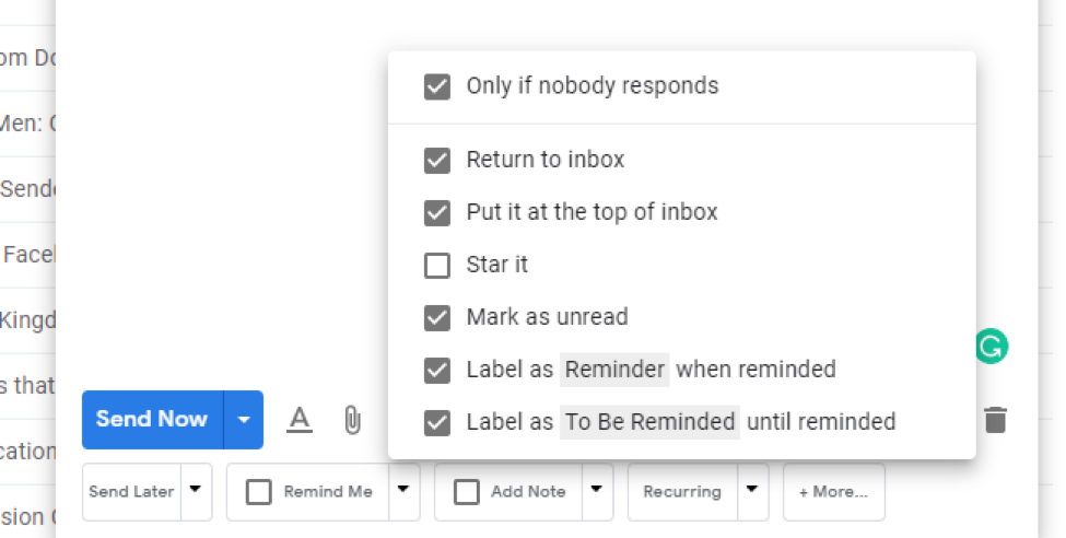 Reminder Email Gmail